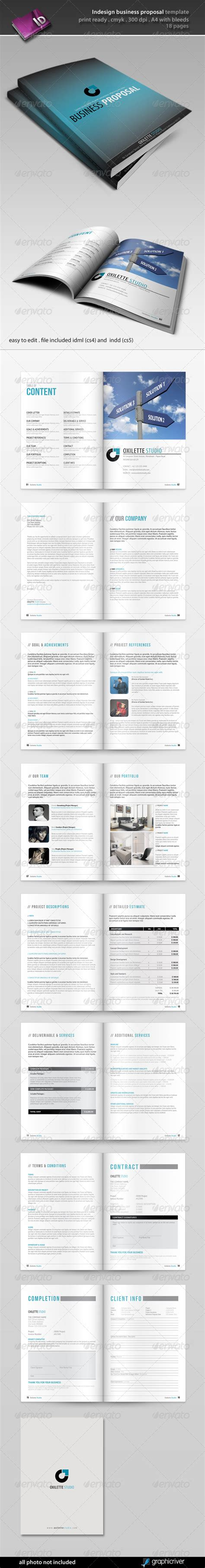 indesign business proposal template project proposal