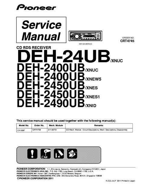 pioneer deh 24ub stereo wiring diagrams pioneer deh 73bt