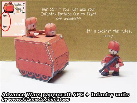 Advance Wars Papercraft - papercraft advance wars orange infantry apc by