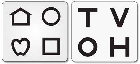 printable lea symbols eye chart vision screening charts for preschoolers dmv eye chart