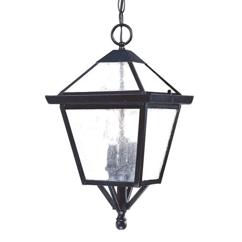 Pendant Outdoor Lights Shop Acclaim Lighting Charleston 18 In Matte Black Outdoor Pendant Light At Lowes