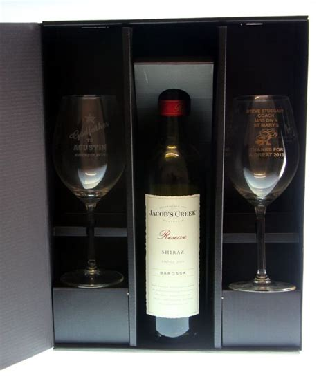 two wine glass with bottle gift box wine box australia