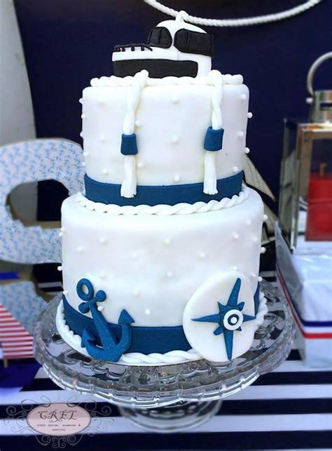 Cute Baby Shower Cakes For A Boy by Kara S Party Ideas Nautical Themed First Birthday Party