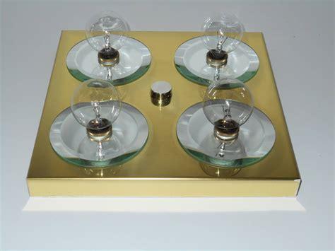 mid century flush mount lighting mid century brass flush mount light fixture by lightolier