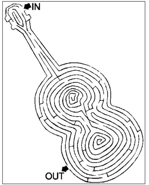 printable music maze violin maze fiddle art pinterest maze orchestra and