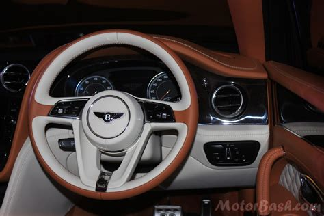 bentley steering wheel at bentley launches bentayga for rs 3 85 crores motorbash com