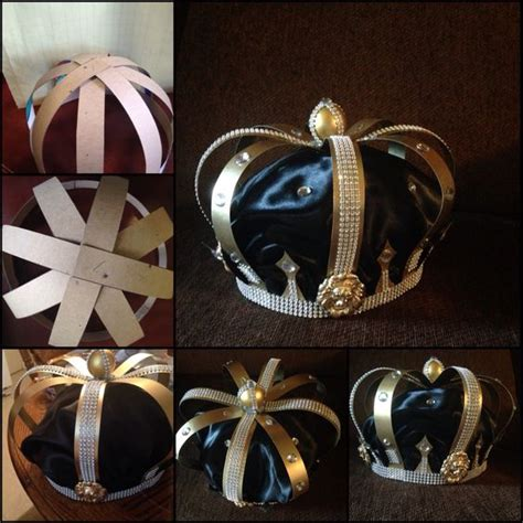 How To Make A Prince Crown Out Of Paper - handmade crown with cardboard paper tread glue