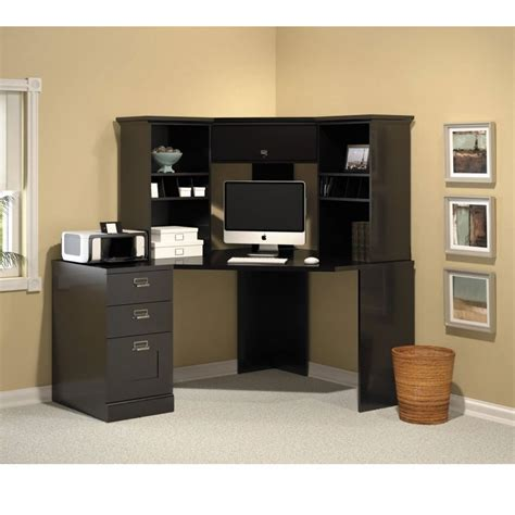 Black Corner Office Desk by Bush My62902 03 Easy Stockport Corner Desk Free Shipping