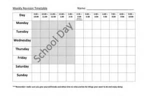 revision timetable template revision timetable by davidtomlin teaching resources tes