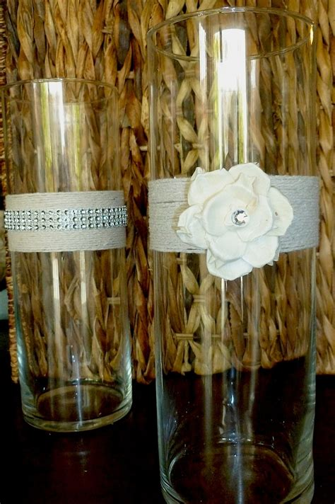 sola flower and twine vase shabby chic by