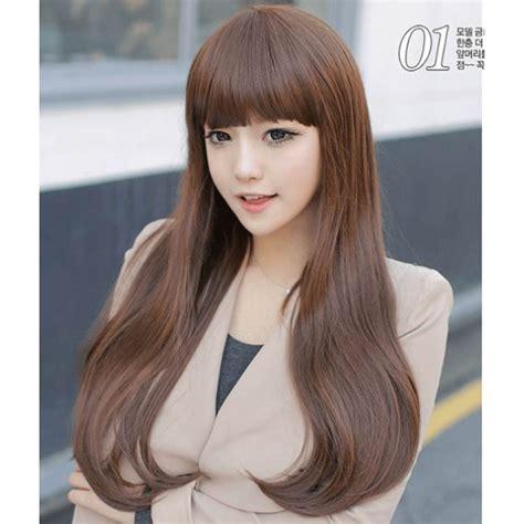 Hairclip Rambut Palsu Panjang Curly Coklat Import jual wig rambut palsu panjang ldj shop