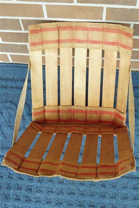 vintage stadium seats vintage wood slat burlap stadium seats 25 reciclaje