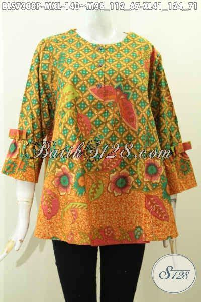 Blus Wanita Blus Cantik Blus Bagus Badung Blus Modern 3 blus batik wanita karir pakaian batik desain a simetris kwalitas bagus dengan lengan