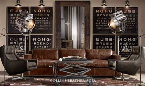 restoration hardware brown leather couch liking the colour palette brown leather couch grey