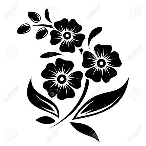 tattoo flower vector black silhouette of flowers vector illustration royalty