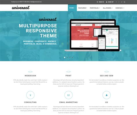 Universal Website Template Multipurpose Website Templates With Free And Premium Options
