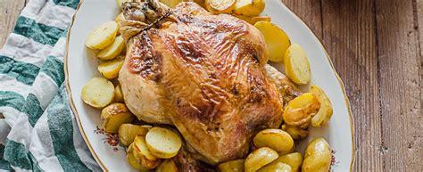 cucinare pollo intero ricetta pollo arrosto con patate agrodolce