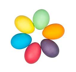colorful eggs an egg citing time of year words on wellness