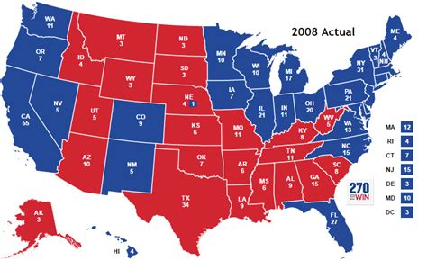 us map election 2008 presidential election of 2008