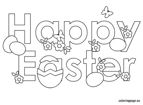 Happy Easter Coloring Pages Printable happy easter coloring pages bebo pandco