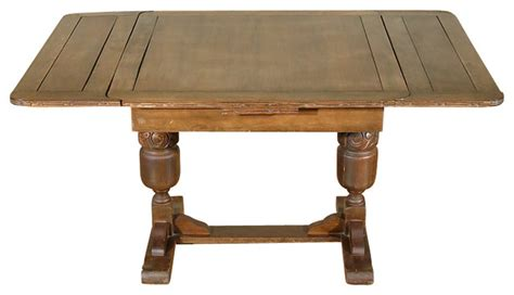 Antique Bar Table 5ft Wide Antique Solid Oak Drawleaf Dining Pub Table C1940 Traditional Dining Tables