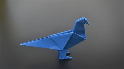 Origami Blue Bird - origami pigeon in br