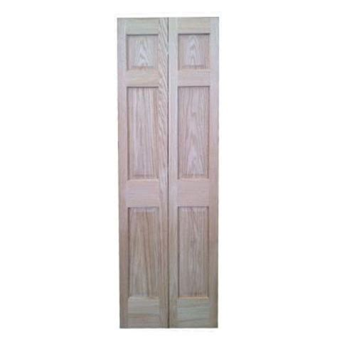 30 X 80 Interior Door Pacific Mills 30 In X 80 In 6 Panel Solid Oak Interior Closet Bi Fold Door 6p Ro Bf30