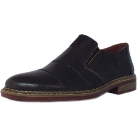 rieker shoes cavalery mens slip on shoes in black