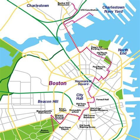 freedom trail boston map new trip boston freedom trail map also look at
