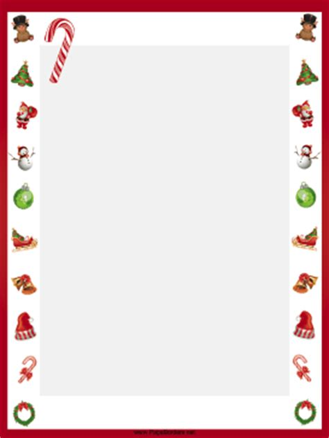 printable elf borders candy canes christmas border