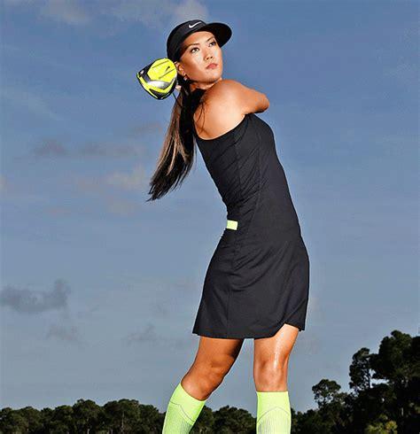 woman golf hairstyles michelle wie most beautiful women in golf golf com