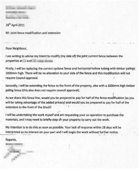Fence Letter