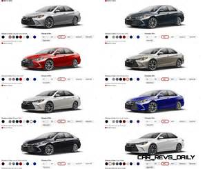 colors of 2017 toyota camry 2015 toyota camry colors and trims visual buyers guide