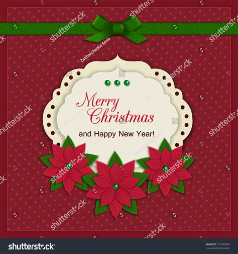 merry christmas modern merry christmas greeting card modern handmade stock vector
