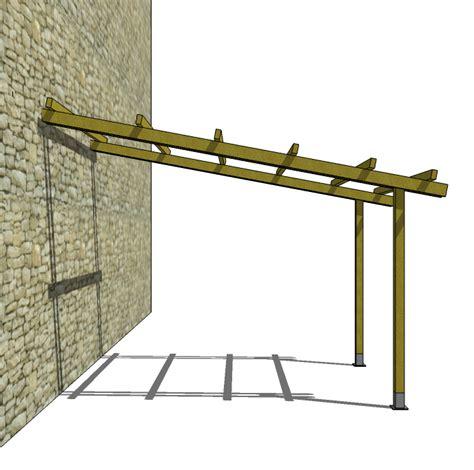 costruire una tettoia addossata pergola addossata in legno 4x3