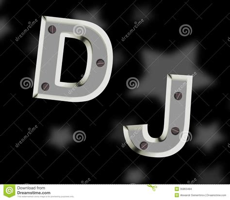 Letter Dj Song Dj Logo Stock Images Image 35863484