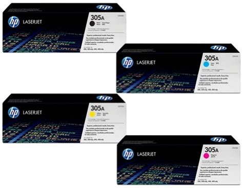 Sale Toner Hp Hp 305a Black Ce410a hp 305a four pack of ce410a black ce411a cyan ce412a yellow ce413a magenta combo set hp
