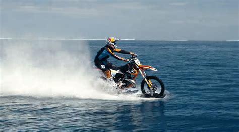 Dc Surfing Original bike surfer aussie daredevil rides on water in tahiti