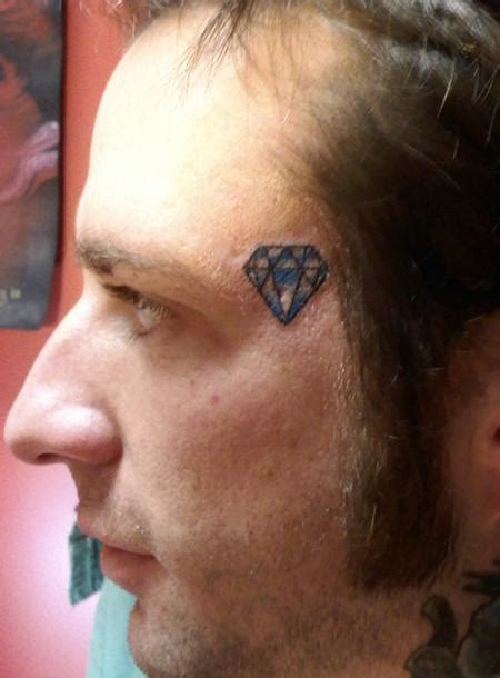 diamond tattoo on the face diamond tattoo on the face tattoos