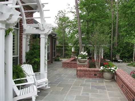 Backyard Patio Landscaping Ideas Backyard Pool Landscape And Patio Traditional Landscape Houston By Kate Yoklavich