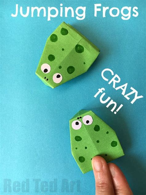 How To Make A Jumping Frog Out Of Paper - 25 best ideas about origami frog on easy