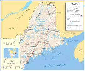 Main State Map by Maine Map Maine State Map Maine Road Map Map Of Maine