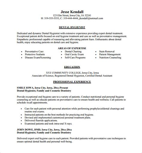 Dental Assistant Resume by Dental Assistant Resume Template 7 Free Word Excel