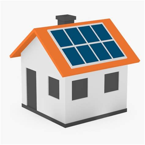 solar house images 3d model houses solar panels