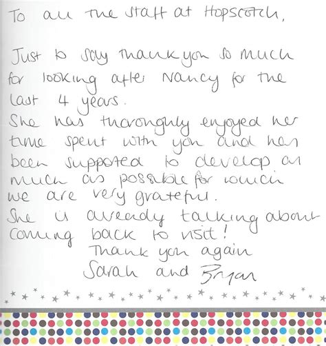 Thank You Letter To Nursery Testimonials Reviews What Do Parents Say About Us