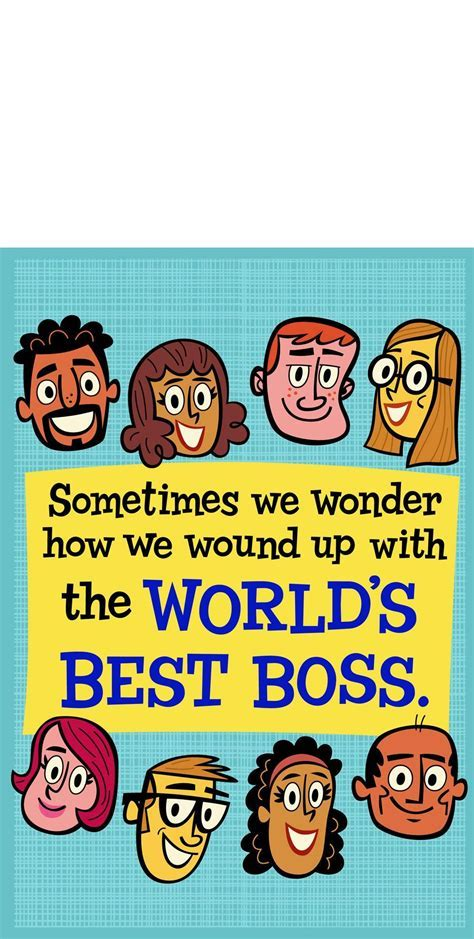 World's Best Boss and Employees Funny Boss's Day Card From