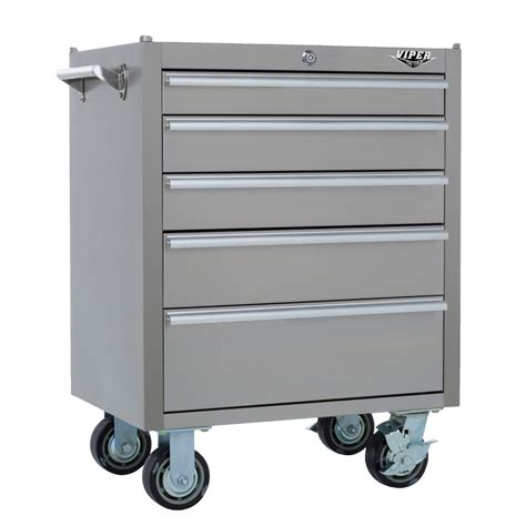 stainless steel tool cabinet shop viper tool 35 5 in x 26 in 5 ball bearing