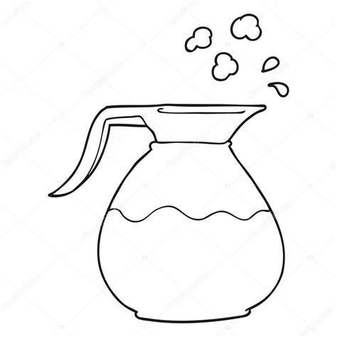 imagenes para colorear jarra jarra de caf 233 de dibujos animados de blanco y negro