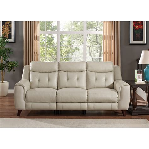 paramount home decor cream leather reclining sofa cream leather recliner sofa