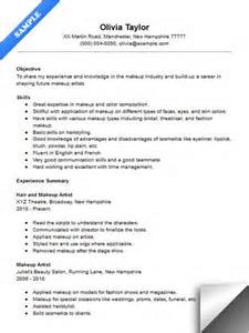 Sle Entry Level Resumes by Entry Level Makeup Artist Resume Sle Makeup Vidalondon